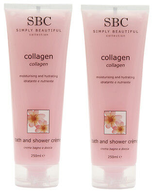 SBC Collagen Bath And Shower Creme 250ml Tube Duo