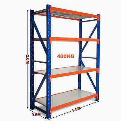 New 1.5M Warehouse Garage Metal Steel Storage Shelving Racking Shelves Shelf