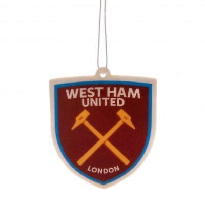 West Ham FC New Badge Crest Football Club Car Hanging 2D Air Freshener Official