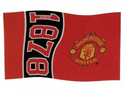 Manchester Man Utd FC Football Since 1878 Flag Red Supporter Fan Match Banner