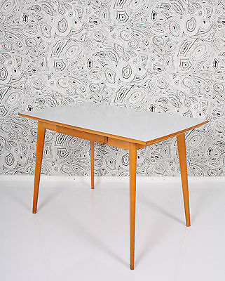 50s blondwood formica top dining TABLE  mesa tavolo a 50 a50