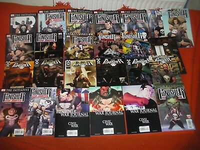 Punisher War Zone  #1 - 5  &  Punisher Vs. Bullseye #1 - 5  Complete Sets  Newnm
