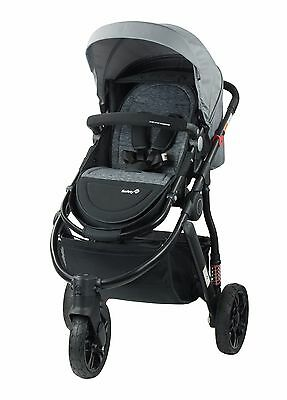 New Safety 1St Wanderer 3 Wheel Stroller Pram + Capsule Carrier
