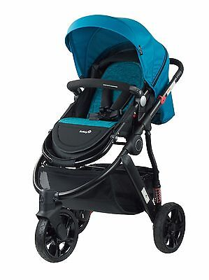 New Safety 1St Wanderer 3 Wheel Stroller Pram Blue