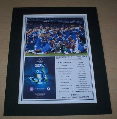 Chelsea - 2012 Champions League Winners Print Mounted To A4