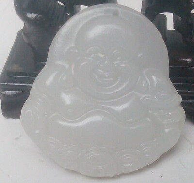 100% natural Afghanistan jade hand carved  pendant of maitreya