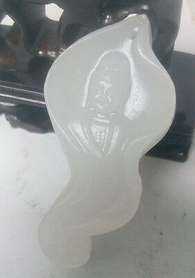 100% natural Afghan jade hand carved pendant of Kwan-yin worth collecting
