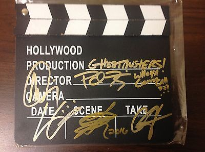 Ghostbusters Cast Signed/autographed Clapboard