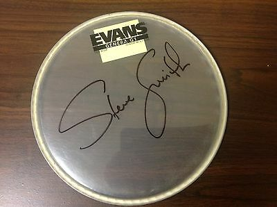 Steve Smith Signed/autographed Drum Head