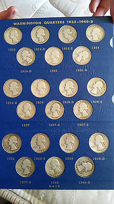 1932-1964 washington quarter collection (silver quarters)