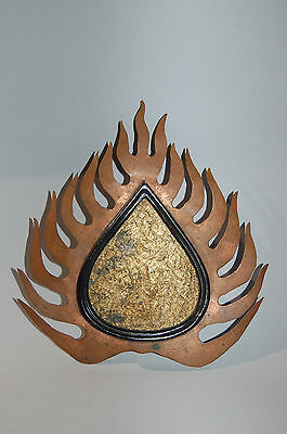 Maedate helmet ornament, flaming Buddhist jewel, Japan
