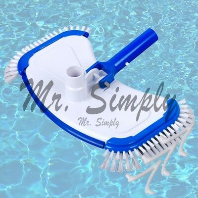 Pool Vacuum Head Vinyl Bumper Weights And Side Brushes Pond Jacuzzi Extra Clip