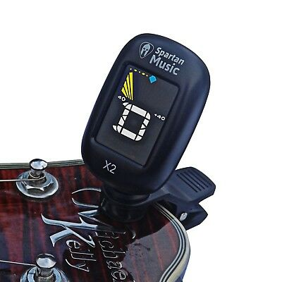 Clip on Chromatic Guitar & Instrument Tuner - Bass / Electric / Ukulele
