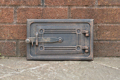 28 cm x 17.3 cm cast iron fire door clay/bread oven door/pizza smoke house