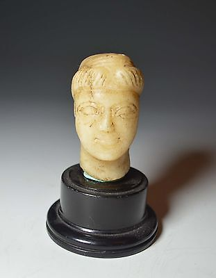 A Late Roman  Marble Head, Eastern Empire