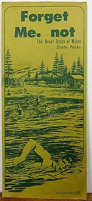 1970 Maine State Parks brochure & map b