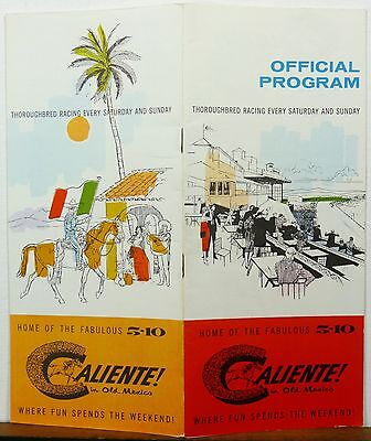 1961 August 13 Caliente! in Old Mexico Official Horse Racing Program brochure b