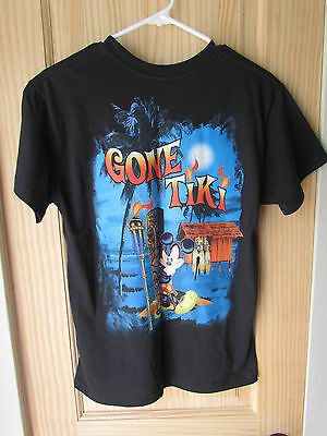 Disney Mickey Mouse Gone Tiki Black Large Graphic T-Shirt Youth Size Xl 14/16