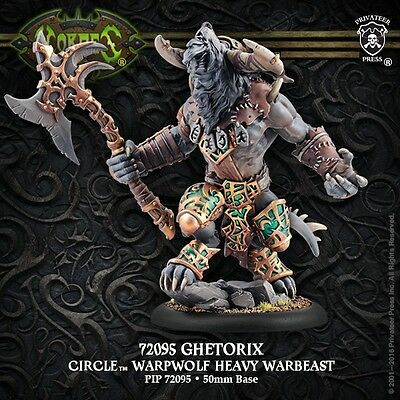 Hordes: Circle of Orboros: Ghetorix Warpwolf Heavy Warbeast (PIP72095) NEW