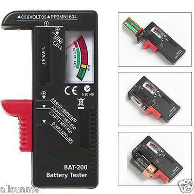 New Indicator Universal Battery Cell Tester AA AAA C/D 9V Volt Button Checker US