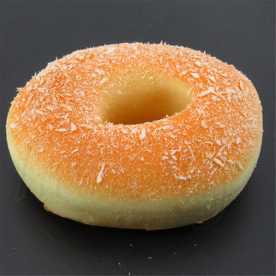 10CM Yummy Coconut Shred Donut Kawaii Squishy Bread Toy Bakery Display Decor NEW