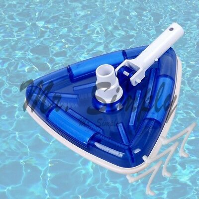 Triangle Vacuum Head Pool Spa Vinyl Clear Weighted Transparent Vac Extra Clip