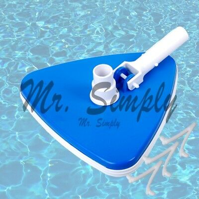 Triangle Vacuum Head Pool Spa Vinyl Bumper Weighted Cleaner Brush Extra Clip New