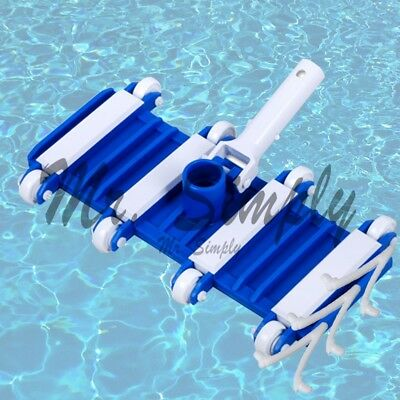 """Professional 14"""" Flexible Vacuum Head Cleanner Pool Spa Pond Extra Clip Jacuzzi"""