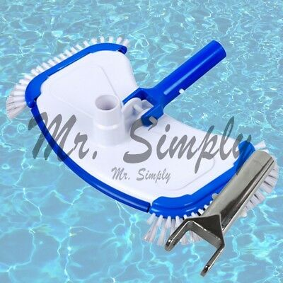 Pool Vacuum Head Bumper Weights And Side Brushes Pond Jacuzzi Extra Metal Handle