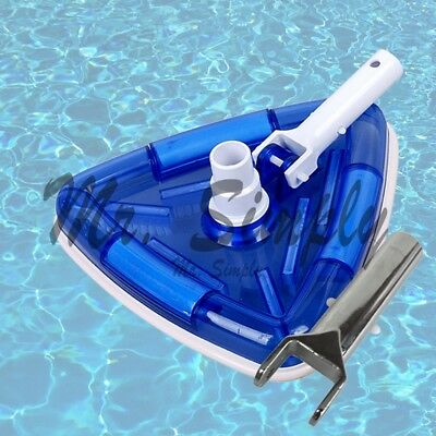 Triangle Vacuum Head Pool Spa Vinyl Clear Weights Transparent Extra Metal Handle