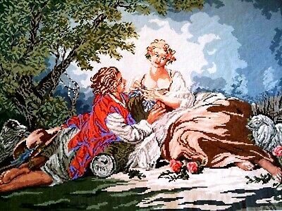 X-LARGE CROSS STITCH - RENAISSANCE 190 cm x 125 cm Completed  Hand MadeTapestry