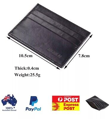 Mens Leather Wallet,Slim Credit / Opal Card Holder & Ships From Australia