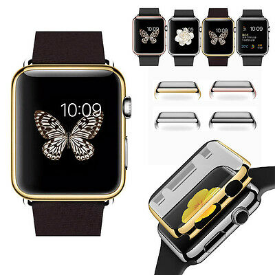 38mm 42mm Electroplate Hard Cover Case Screen Protector for Apple Watch iWatch