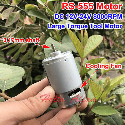 DC 12V-24V 8000RPM High Power Large Torque RS-555 Motor for Drill Electric Tools