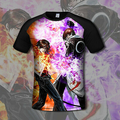 NEW Anime THE KING OF FIGHTERS Kyo/Iori T-shirt Casual Tee Cosplay Black Tops #7