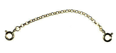 9ct Gold Safety Chain Extension Bracelet Necklace Extender jewellery Co