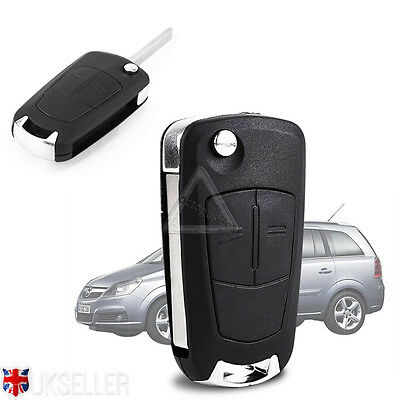 2 Button Remote Flip Key Fob For Vauxhall Opel Corsa Astra Vectra Zafira Replace
