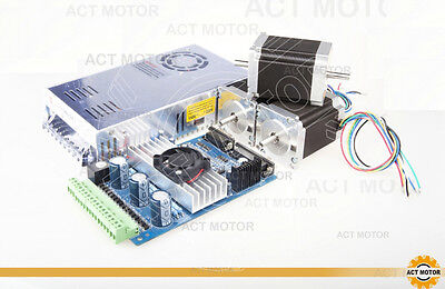ACT Motor GmbH Nema23 3Axis Driver Board Kit 23HS8630B 1,89Nm 76mm + TB6560 +PSL