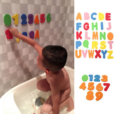 36 Pcs Baby Kids Bath Time Fun Learning Letters & Numbers Stick EVA Puzzle Toys