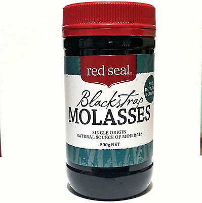Red Seal Organic Unsulphured Black Strap Molasses 500g   Made in New Zealand