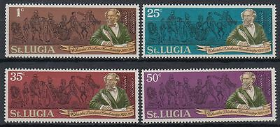 St. Lucia 1970 ** Mi.270/73 Charles Dickens [st0620]