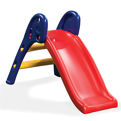 Kids Childrens Slippery Dip Qwikfold Fun Slide - Backyard Outdoor Play Equipment