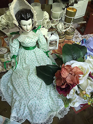 Scarlett O'hara Porcelain Doll Rare And Hard To Find Reduced!!!!!!!!!!