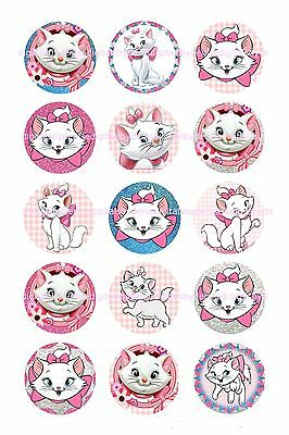 "$2.45-$5.50 ***FREE SHIPPING*** DISNEY VALENTINE 1/"" CIRCLES  BOTTLE CAP IMAGES"
