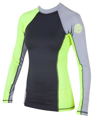 Rip Curl Surf Session Womens Rashguard Long Sleeve 50+ UV Protection BEST SELLER