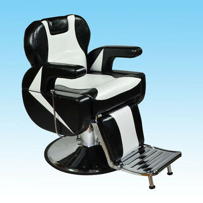 Beauty Salon Stool Gas Barber Lift Chair Furniture Hairdressing Black Style #
