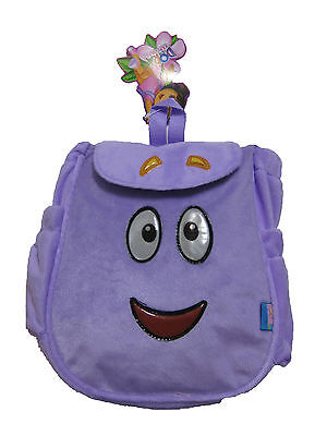 """DORA Mr. Backpack Plush Face with Map 11"""" x 10"""" ( PURPLE ) FREE GIFT !!!!"""