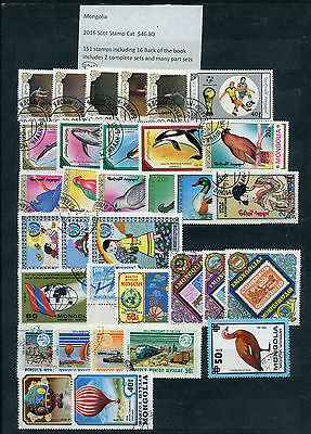 Weeda Mongolia Mint & Used/CTO collection, 151 total stamps CV $46.80