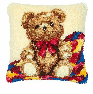 Vervaco - Latch Hook Cushion Kit - Teddy Bear - PN-0014124