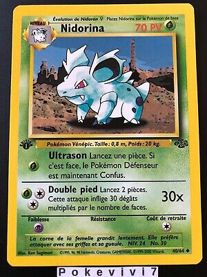 Carte Pokemon NIDORINA 40/64 Jungle Wizard Neuve Française EDITION 1